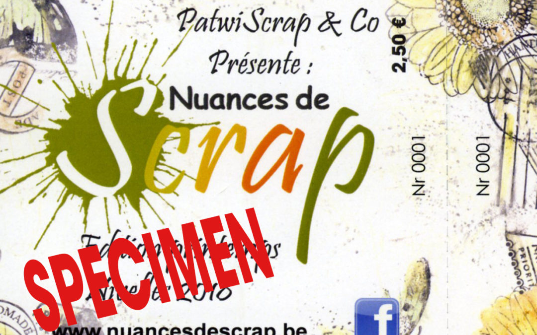 Concours jeux billetterie Nuances de Scrap Gosselies les 10 et 11 novembre 2018